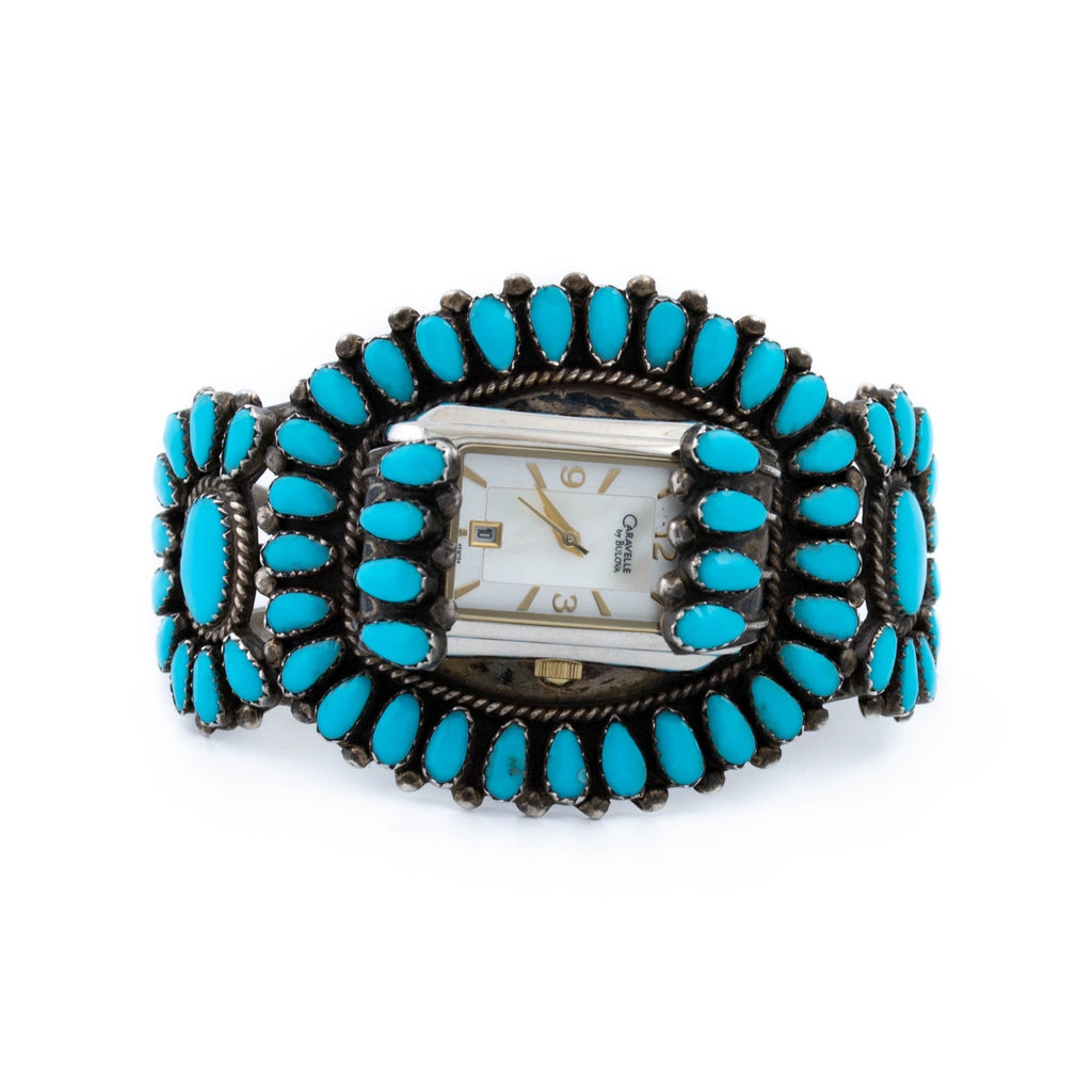 Turquoise Zuni Cuff Watch - Kingdom Jewelry