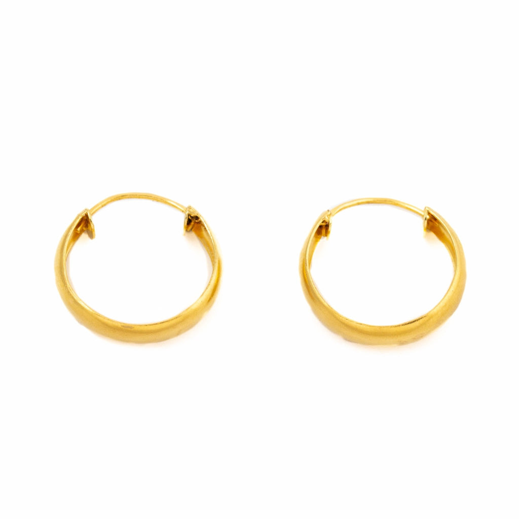 U-Cut Hoop Earrings - Kingdom Jewelry