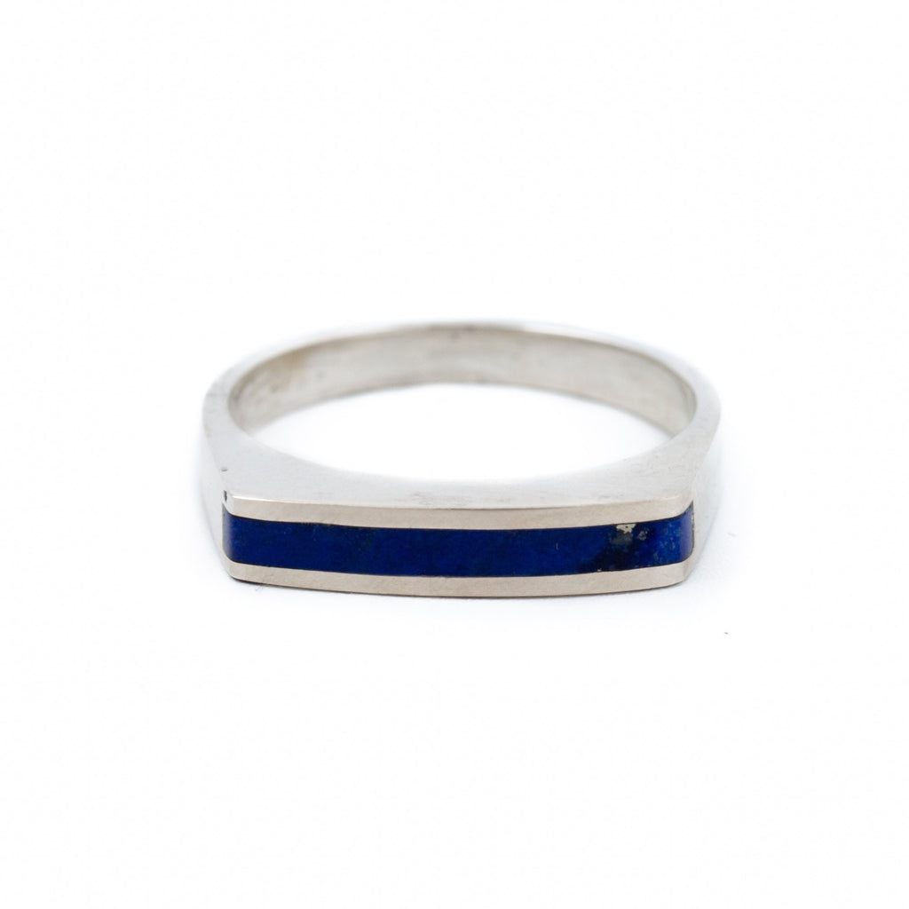 Ultra Slim Lapis Ring - Kingdom Jewelry