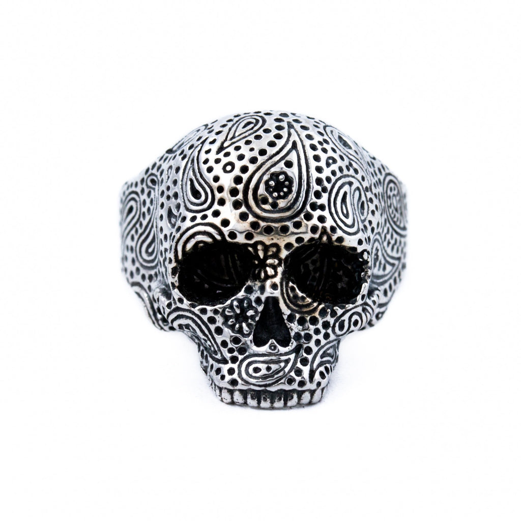 Unhinged Paisley Skull Ring - Kingdom Jewelry