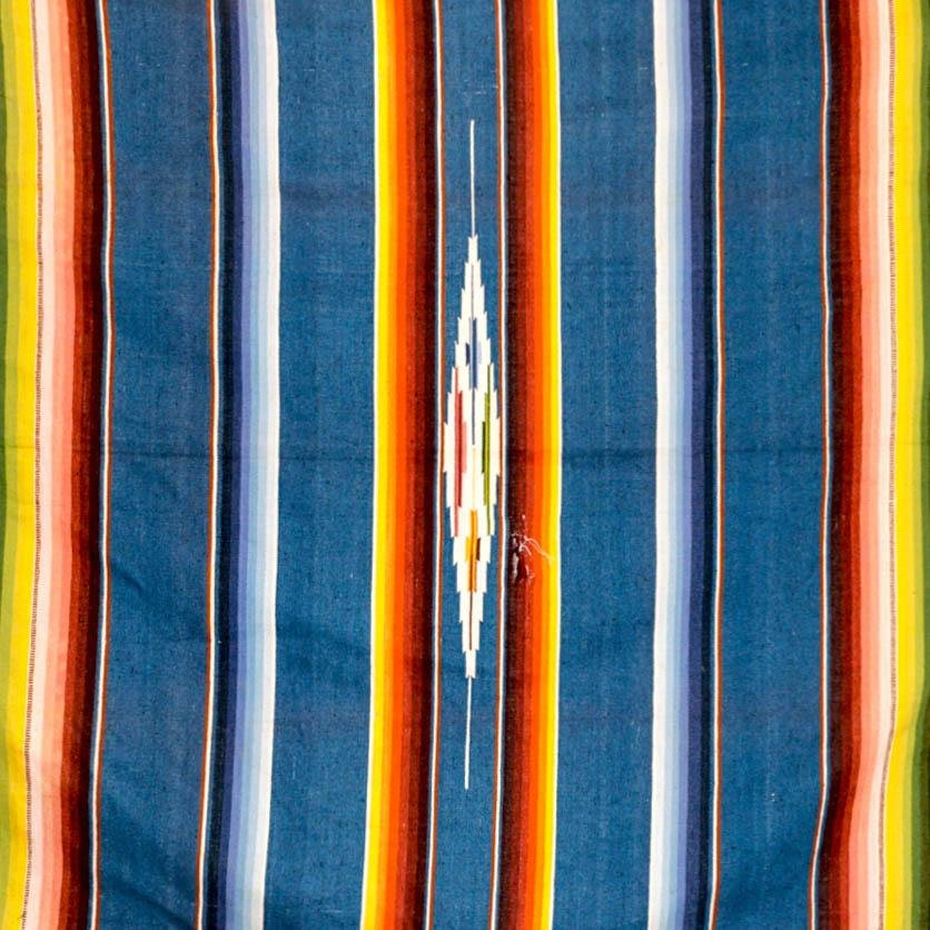 Vintage Blue Toned Serape - Kingdom Jewelry