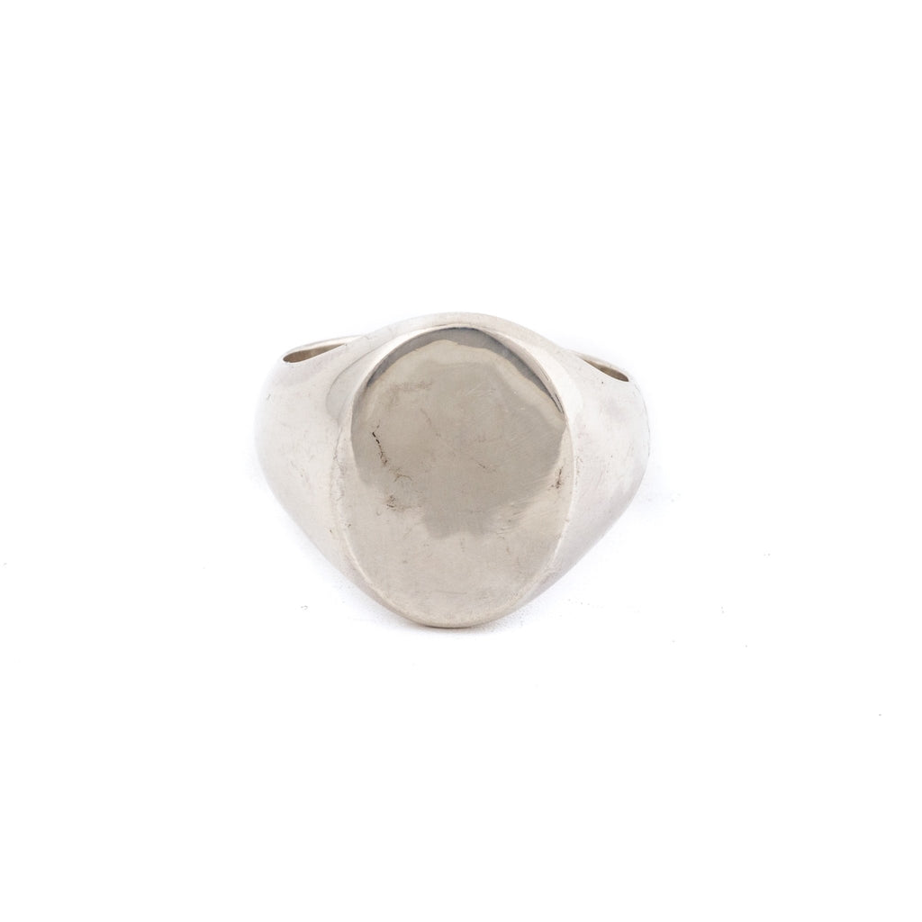 Weathered Sterling Silver Blank Signet Ring - Kingdom Jewelry