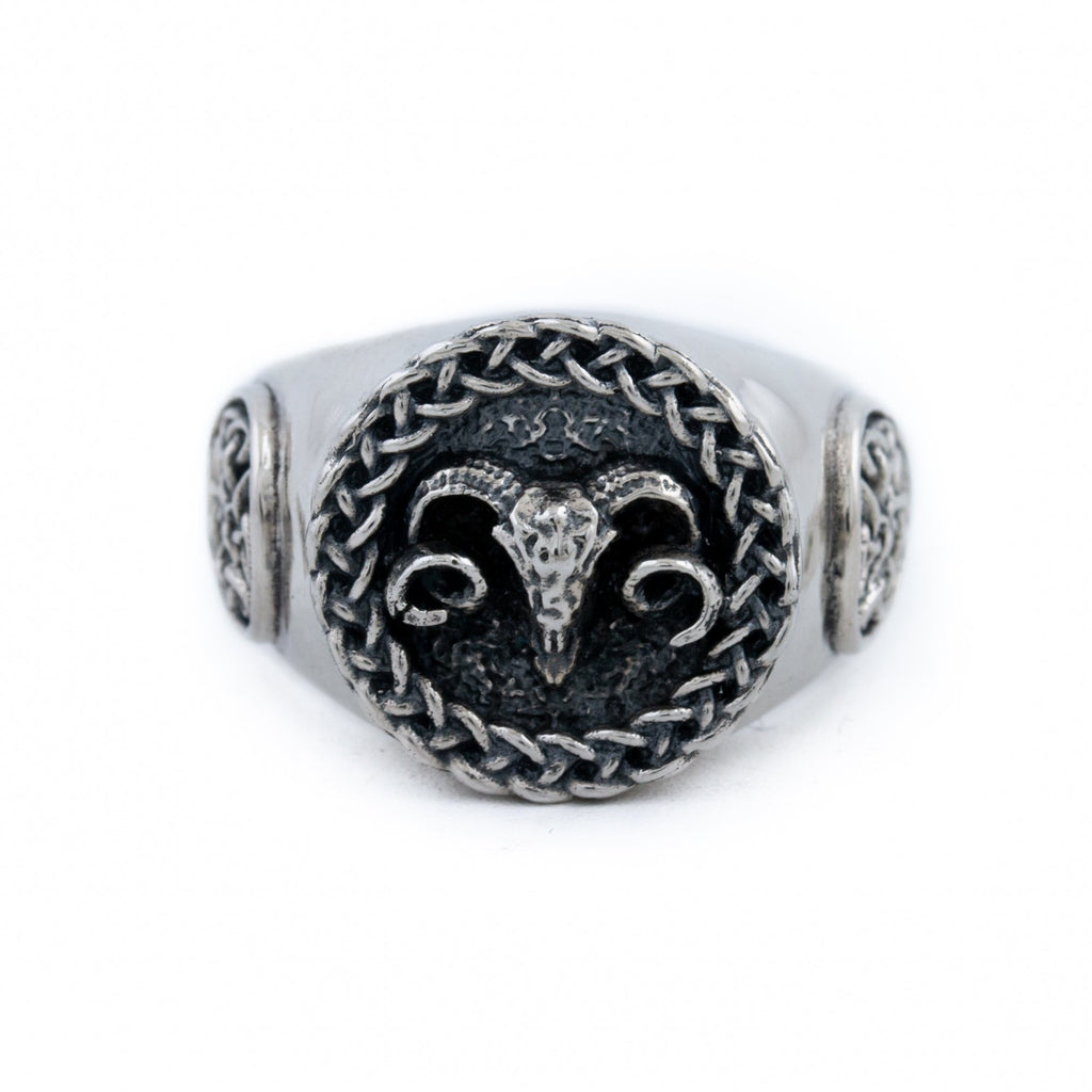 "Weaved ""Celtic Aries"" Ring - Kingdom Jewelry"