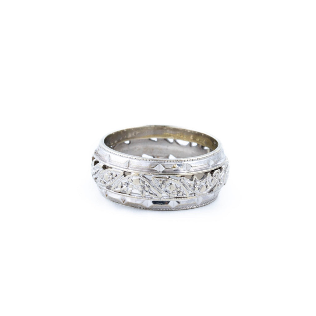 White Gold Filigree Band - Kingdom Jewelry