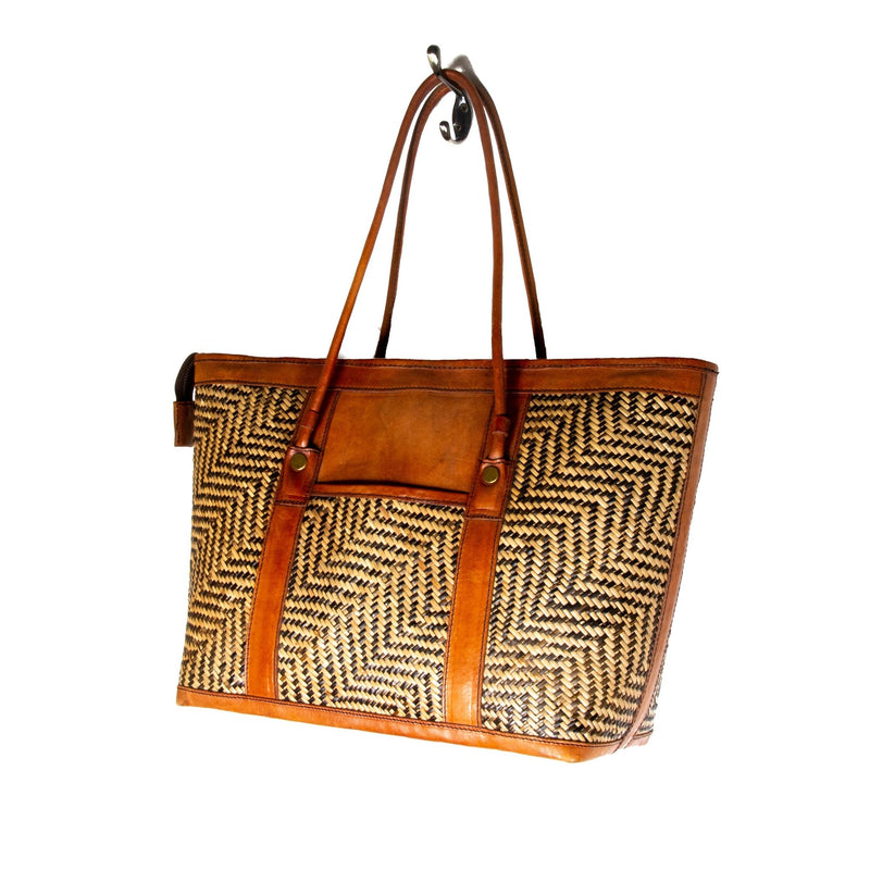 Zig Zag Rattan Sidebag - Kingdom Jewelry