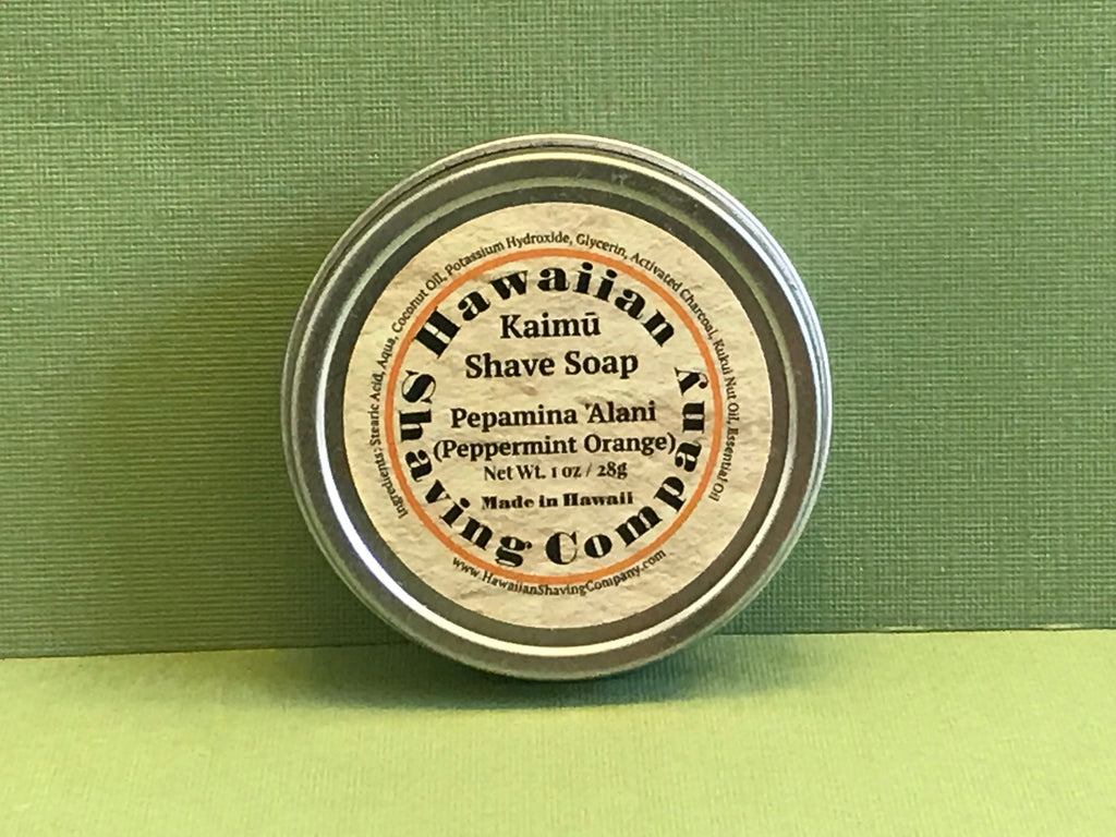 Hawaiian Shaving Co. Peppermint Orange Shave Soap 1.0 oz