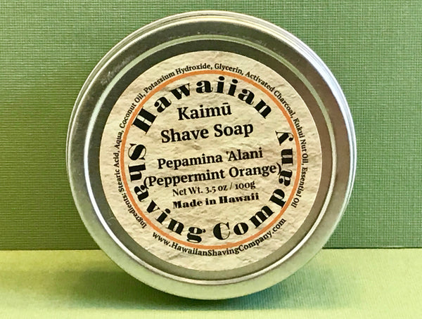 Hawaiian Shaving Co. Peppermint Orange Shave Soap 3.5 oz.