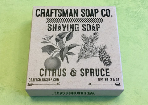 Craftsman Soap Co. Citrus & Spruce Shaving Soap