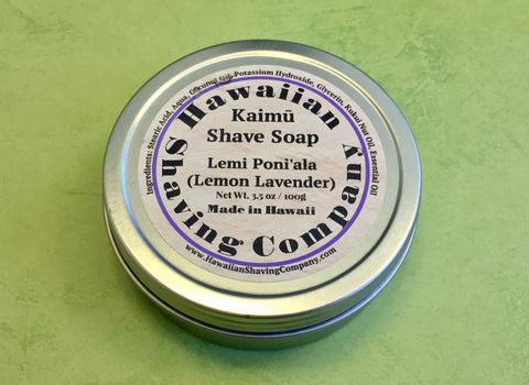 Hawaiian Shaving Co. Lemon Lavender Shaving Soap