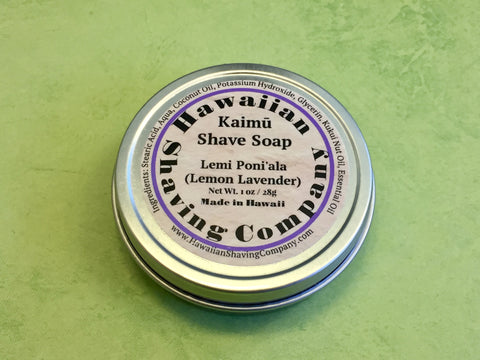 Hawaiian Shaving Co. Lemon Lavender Shaving Soap  1 oz. Travel Size