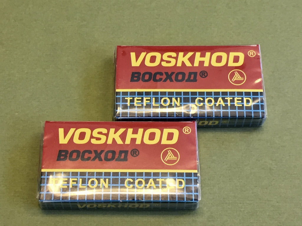 Voskhod Teflon Coated DE Razor Blades (2 packs of 5)