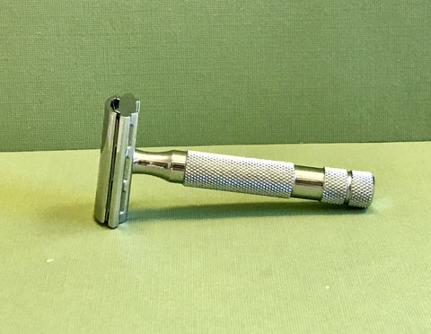 Rockwell 6C Adjustable Safety Razor (White Chrome)