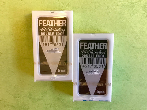 10 Feather Hi-Stainless Platinum Coated Razor Blades (5 pack x 2)