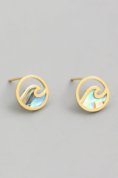 RIDE THE WAVE STUD EARRINGS