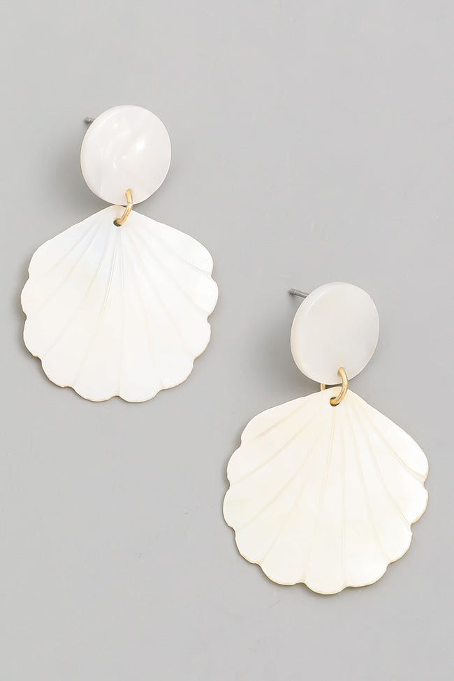SPECIAL SHELL DROP EARRINGS - Brinisity