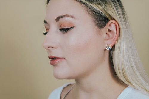 RIDE THE WAVE STUD EARRINGS - Brinisity