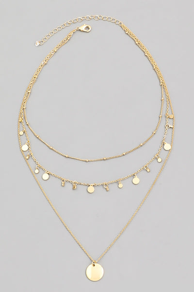 BANKS COIN LAYERED NECKLACE