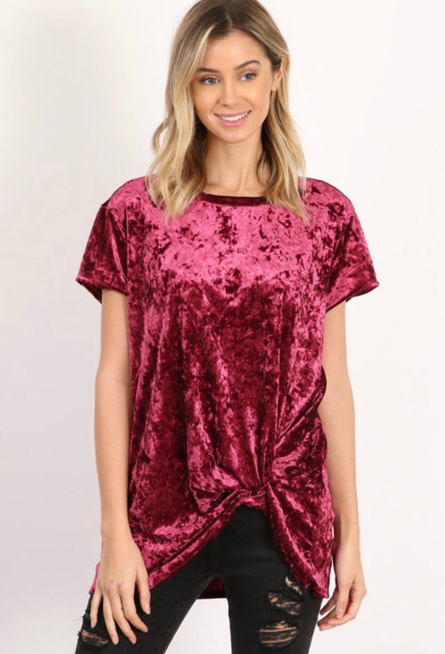 Fall Moon Velvet Tee- Flash Sale