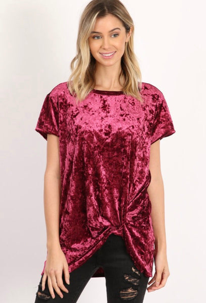 FALL MOON VELVET TEE - Brinisity