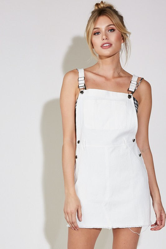 Stevie Denim Overall Mini Dress