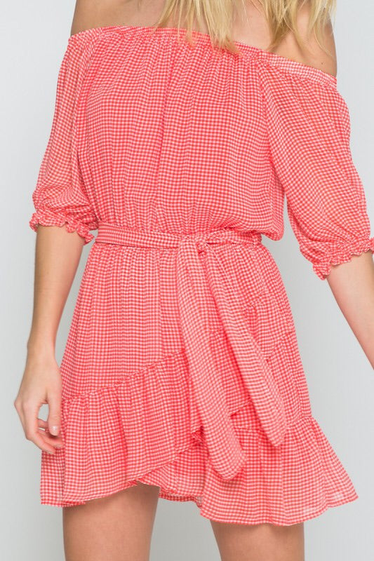 PICNIC IN THE PARK MINI WRAP DRESS - Brinisity