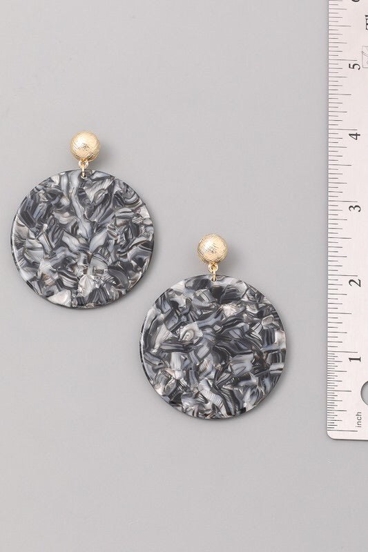MARBLED EARRINGS - Brinisity