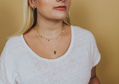 BANKS COIN LAYERED NECKLACE - Brinisity