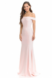 BLUSH CHLOE OFF THE SHOULDER EVENING GOWN - Brinisity