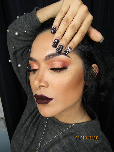 Dark Lips Holiday Makeup!