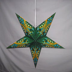 "24"" Green Splash Paper Star Lantern, Hanging Decoration, Hanging Ornaments"