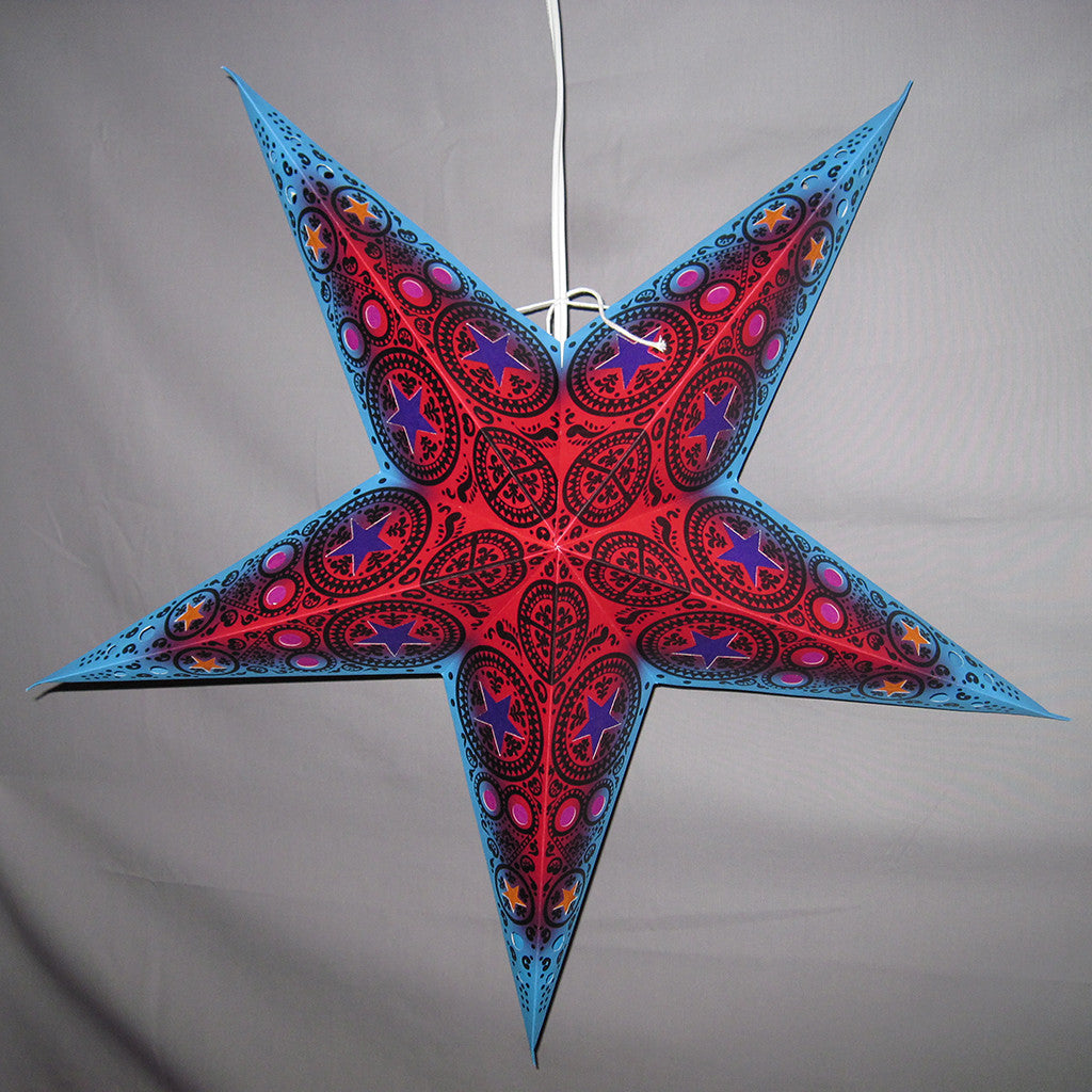 "24"" Mystic Paper Star Lantern, Hanging Decoration, Hanging Ornaments"