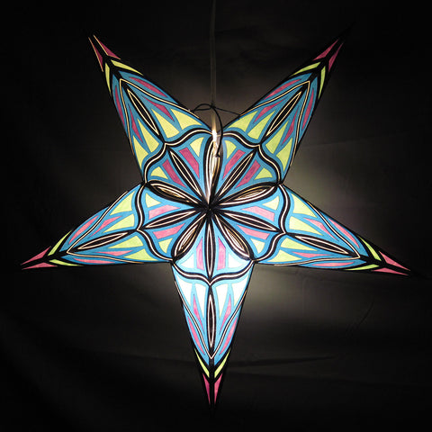 "24"" Neon Paper Star Lantern, Hanging Decoration, Hanging Ornaments"