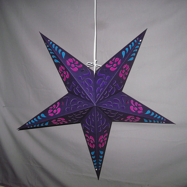 "24"" Purple Punch Paper Star Lantern, Hanging Decoration, Hanging Ornaments"