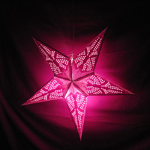 "24"" Purple Starfish Paper Star Lantern, Hanging Decoration, Hanging Ornaments"