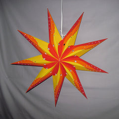 "24"" Sunburst Paper Star Lantern, Hanging Decoration, Hanging Ornaments"