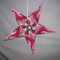 "24"" Pink Enchanted Paper Star Lantern, Hanging Decoration, Hanging Ornaments"