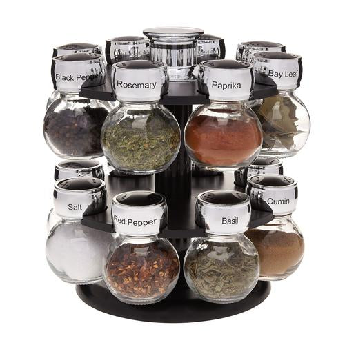 THE ELEMENT 16 JAR SPINNING SPICE RACK
