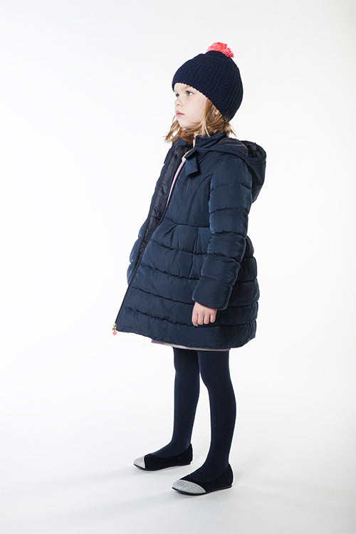 Billieblush Winter attire including coats and warm accessories like hats and tights