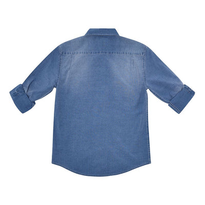 DL1961 Ash Mid Wash Indigo Shirt-Shirts-DL1961-kids atelier