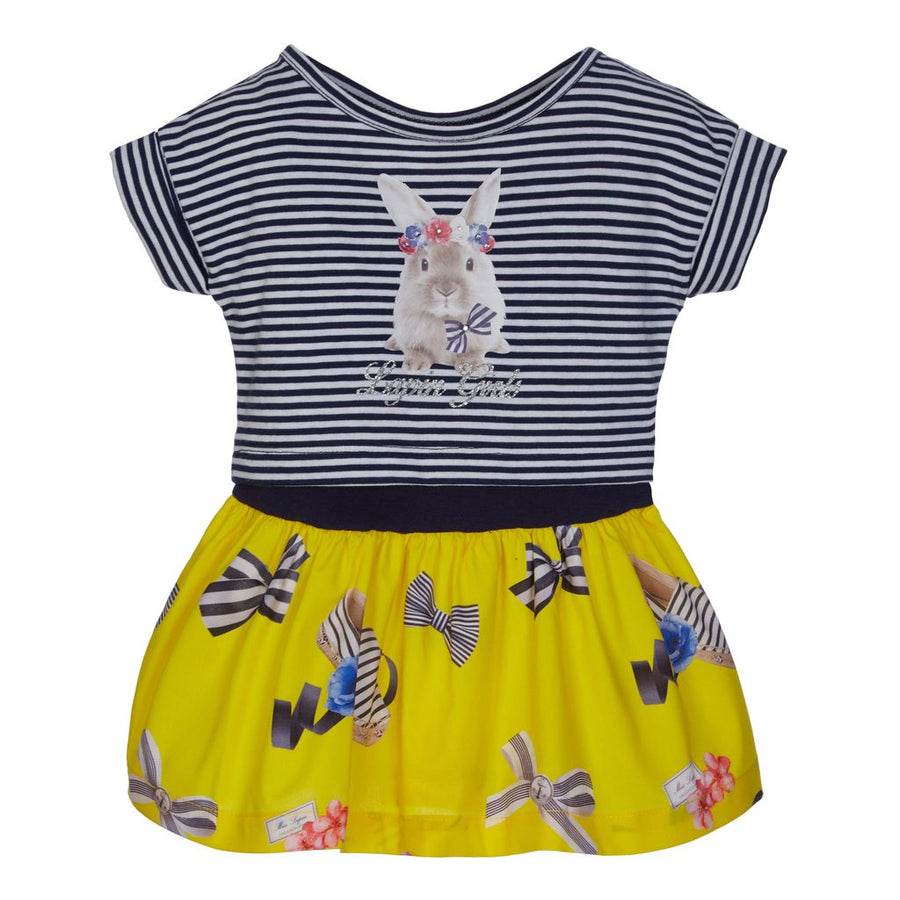 Lapin House Navy Striped Bunny Dress-Dresses-Lapin House-kids atelier