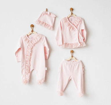 PINK 4 PC CHIC GIRL HOMECOMING SET