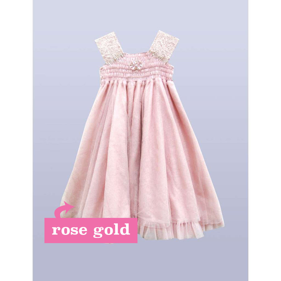 ANASTASIA ROSE GOLD DRESS