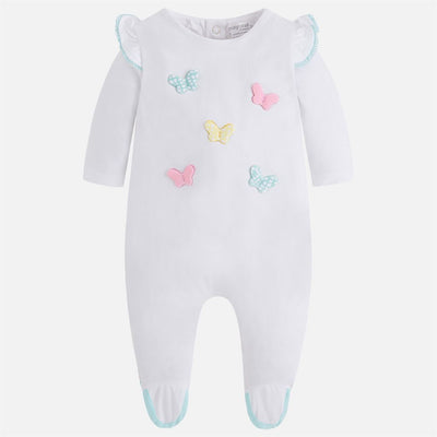 Mayoral Aqua Blue Butterfly Onesie-Bodysuits-Mayoral-kids atelier