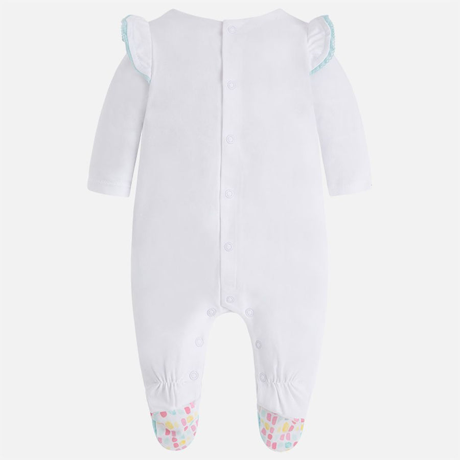 Mayoral Aqua Blue Butterfly Onesie