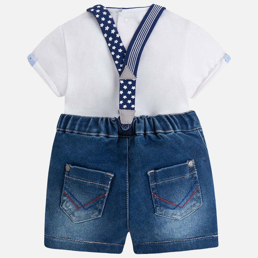 Mayoral Denim Shorts Set