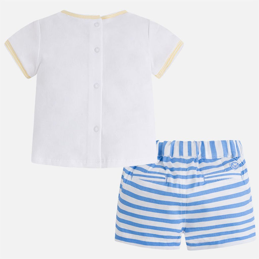 Mayoral Lemon Yellow Short Pants Set-Outfits-Mayoral-kids atelier