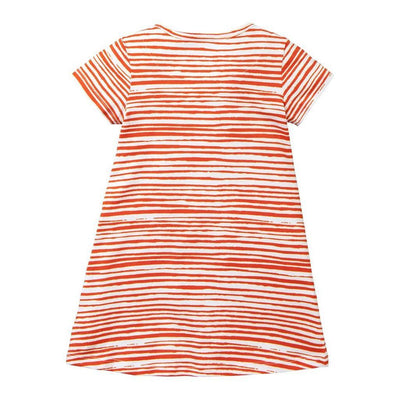 Oilily Printed Red Stripe Trulia Dress-Dresses-Oilily-kids atelier