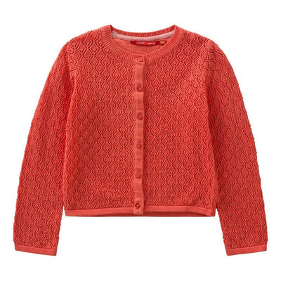 Oilily Red Kama Knitted Cardigan-Sweaters-Oilily-kids atelier
