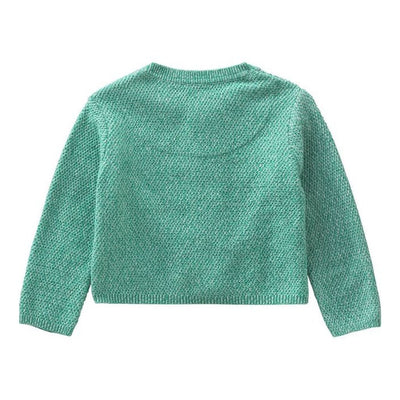 Oilily Turquoise Kama Knitted Cardigan-Sweaters-Oilily-kids atelier