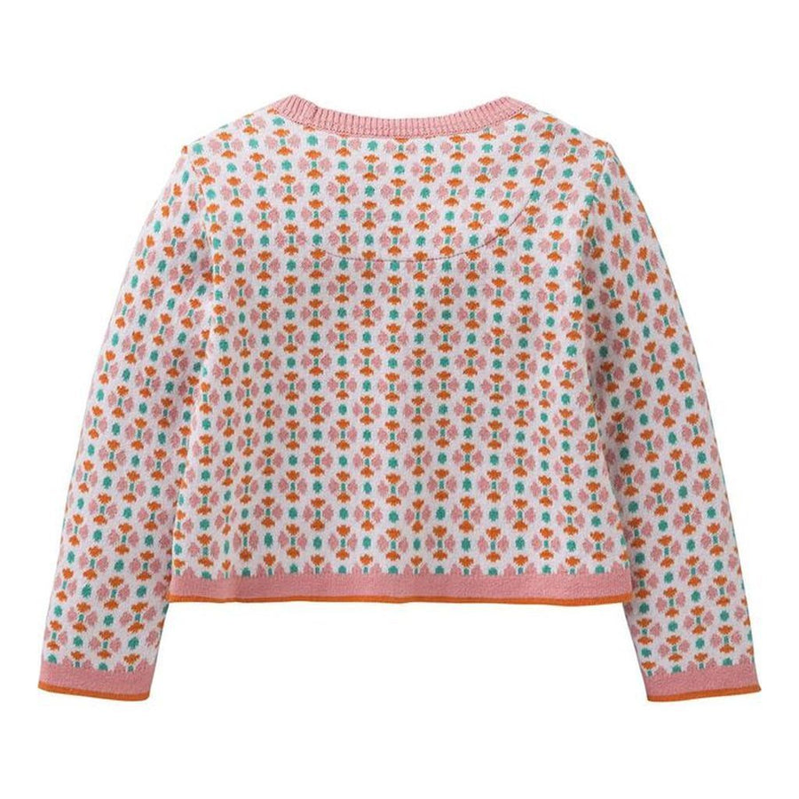 Oilily Flower Pink Kara Knitted Cardigan